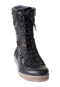 N8211-O-BLA, snörstövlett högt skaft, svart, New Feet