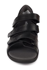 N7123-P-BLA, Svart sandal, New Feet