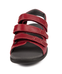 N7105-P-RED sandal med kardborre, röd, New Feet