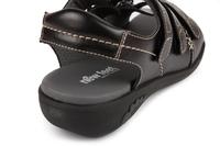 N7105-P-BLA sandal med kardborre, svart, New Feet