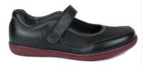 N10116-P-BLA, svart damsandal, New Feet
