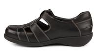 N9199-P-BLA sandal med kardborre, svart, New Feet