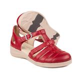 N9133-P-RED, röd sandal, New Feet