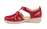 N9133-P-RED, röd sandal, New Feet